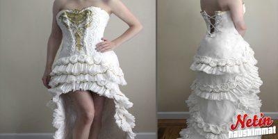 Et ikinä arvaa mistä tämä upea puku on tehty! – katso ja hämmästy!