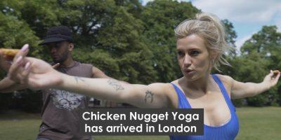 Kananugetti joogaa Lontoossa – kyllä, luit oikein!