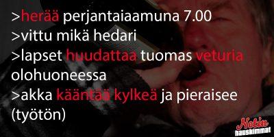 Tarina suomalaisen työmiehen arjesta