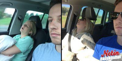 """Mies julkaisi kuvan jokaiselta """" road tripiltä """" vaimonsa kanssa – Aina sama juttu!"""