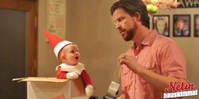 Isä teki lapsestaan tosielämän joulutontun! – Katso ihana kuvasarja!