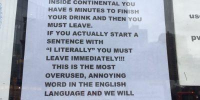 """Tämä baari potkaisee sinut ulos, jos käytät sanaa """"oikeesti""""!"""