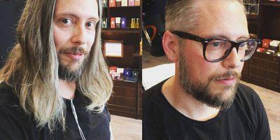 Pitkähiuksiset miehet kävivät parturissa – tuliko parempi vai huonompi?