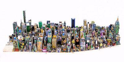 Taiteilija rakensi Manhattanin Midtownin komponenteista – aikaa kului melkoisesti