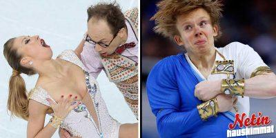 Taitoluistelijoiden hassut ilmeet 2018 olympialaisissa! – Kaikella kunnioituksella!