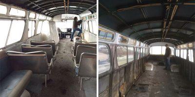 Nainen muutti vuoden 1966 bussin matkailuautoksi – se näyttää paremmalta kuin useimmat asunnot!