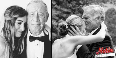 Isä näkee tyttärensä hääpuvussa! – Katso koskettavat kuvat!
