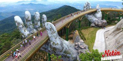 Henkeäsalpaavan upea silta Vietnamissa! – Kuin suoraan fantasiasta Taru Sormusten Herrasta!