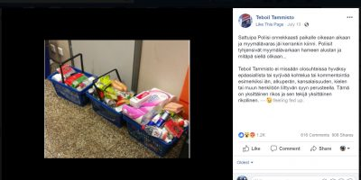 Varas kiinni Vantaalla – hameen alla 3 ostoskorillista ruokaa!
