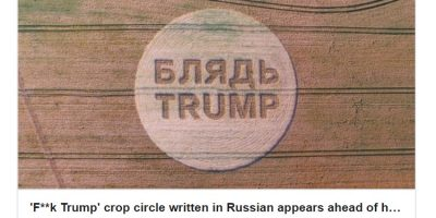 Trumpia tervehditään englannissa töykeällä viestillä – mitä mieltä olet tästä?