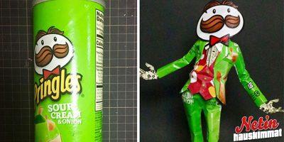 Pringles-purkista taideteos? – Taiteilija Haruki teki näin myös monesta muusta pakkauksesta!