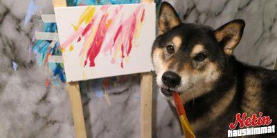 Tämä koira osaa luultavasti maalata paremmin kuin sinä!