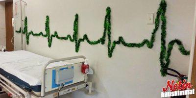 Miltä sairaaloissa näyttää jouluna? – Joissain ainakin tältä!