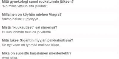 Suomen huonoimmat puujalkavitsit listatiin