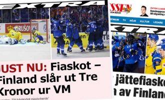 """Ruotsalaismediat kuuluttavat MM-tappiosta: """"Tämä on Fiasko!"""""""
