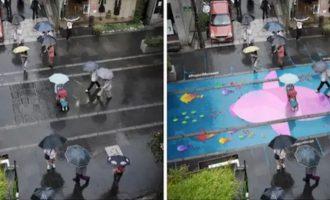 Luulitko, että sade on vain negatiivinen asia – nämä kadut heräävät henkiin sateen ansiosta