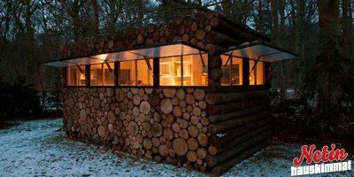 Tee se itse hirsimökki – Näyttää pinolta puuta, mutta on jotain aivan muuta!