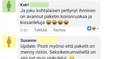 Facebookmokat: Postin sekoiluja – Koiranruuan sijaan seksikeinu!